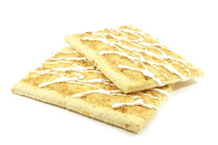 apple tart: Apple Pop Tarts for the Toaster to Be Baked Isolated Stock Photo