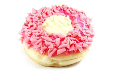 sugary: Donut, the ultimate sugary overdose cake dough snack Stock Photo