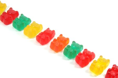 gummie: Gummi Bears Isolated on a White Background