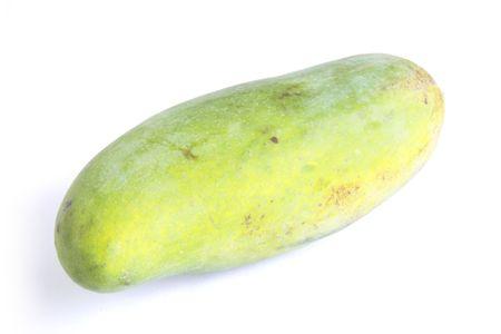 unpeeled: Wild Mango Unpeeled on white background