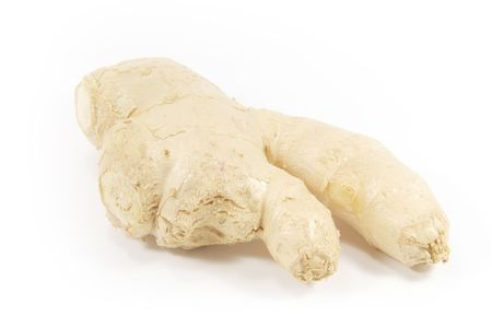 unsliced: Ginger Root isolated on a white background Stock Photo