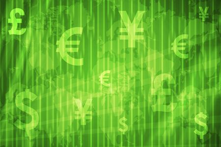 Global Currencies Abstract Background  in Green Colors photo