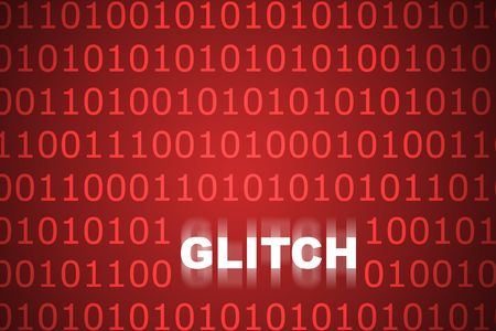 flaw: Technical Glitch Abstract Background in Web Security Series Set