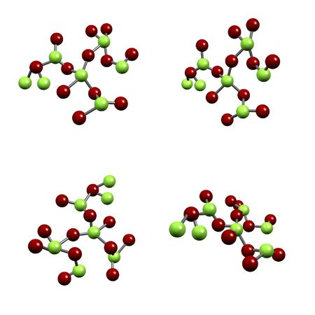 Chemical Compound Structure of Molecules Isolated on a White Background photo