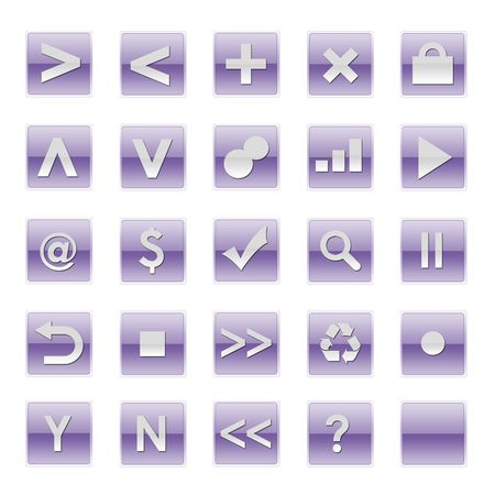 Simple Web Software Internet Buttons in Purple Tones photo