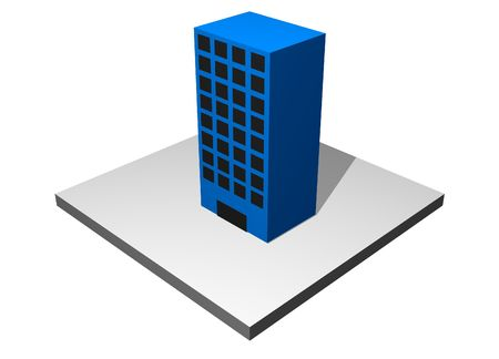 Building - Industrial Manufacturing Diagram Set in Blue photo