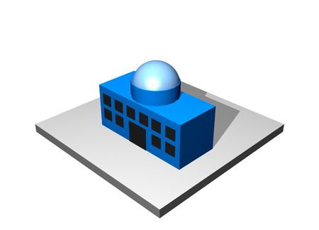 Head Main Office - Industrial Manufacturing Diagram Set in Blue photo