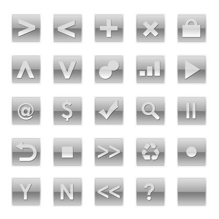 Simple Web Software Internet Buttons in Pastel Tones photo