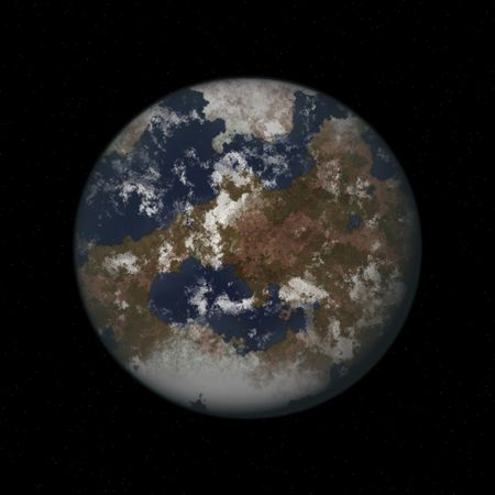 Planet Earth View From the Outer Space photo