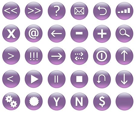 Icon Button Set For Navigation in Purple photo