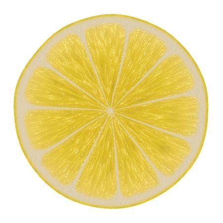 lemony: Lemon Slice Isolated on a White Background