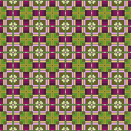 Aztec or Inca Themed Seamless Background Abstract