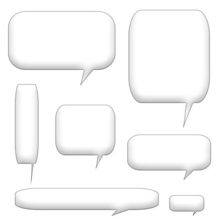 phrases: speech bubbles and balloons isolated on a white background