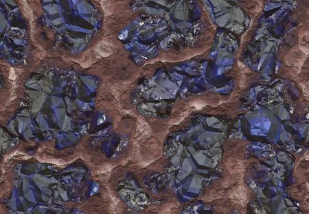 gemology: Sapphire Stones Buried Inside the Earth Abstract Background