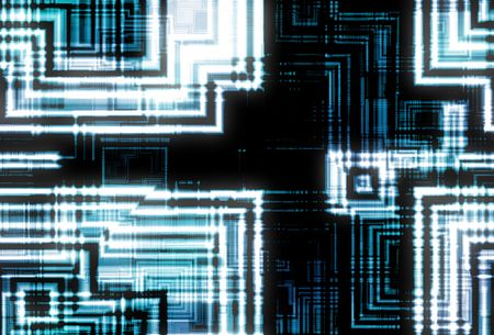 Futuristic Electronic Abstract Background in Black and Blue Stock Photo - 3318289