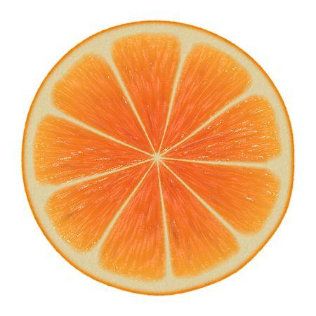 lemony: Orange Slice Isolated on a White Background Stock Photo