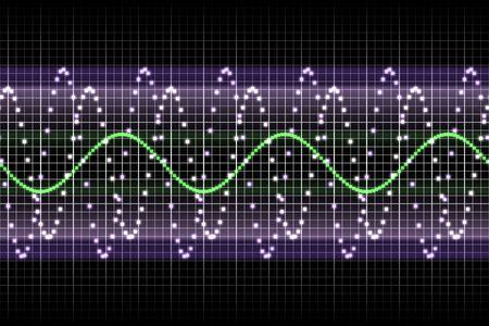 ruido: Ecualizador de sonido ritmo de m�sica late en varios colores  Foto de archivo