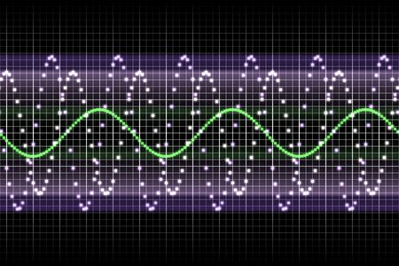 Sound Equalizer Rhythm Music Beats in Various Colors Stock Photo