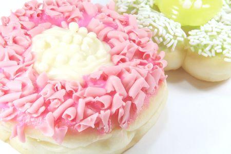 túladagolás: Donut, the ultimate sugary overdose cake dough snack Stock fotó