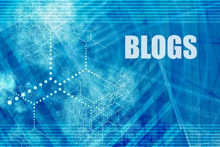 bloggers: Blogs Blue Abstract Background with Internet Clouds