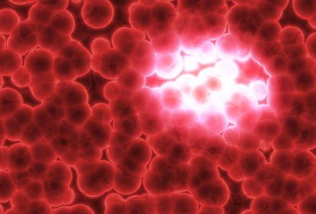 membrane cellulaire: Growing Tumor Danger R�sum� background illustration