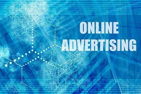 Online Advertising  Abstract Background with Internet Network photo