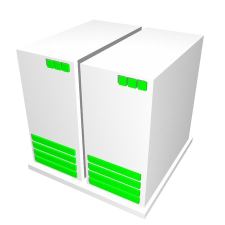 Server CPU Machine Isolated on a White Background photo