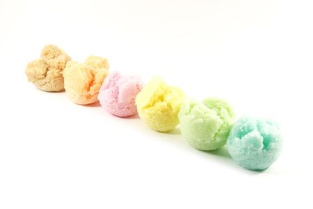 favorite colour: Assorted Ice Cream Flavors Isolated on a White Background