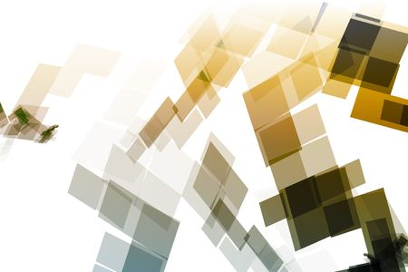 blocky: Gold Blue Mechanical Tech Blocks Abstract Wallpaper Background