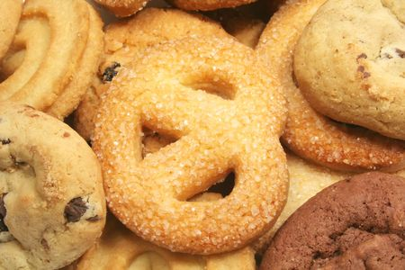 Assorted Cookies Variety Different Types Food Background photo