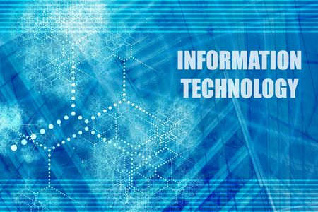 infotech: Information Technology Blue Abstract Background with Internet Network