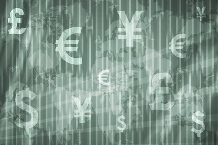 Business Stock Exchange Abstract Background in Green Colors photo