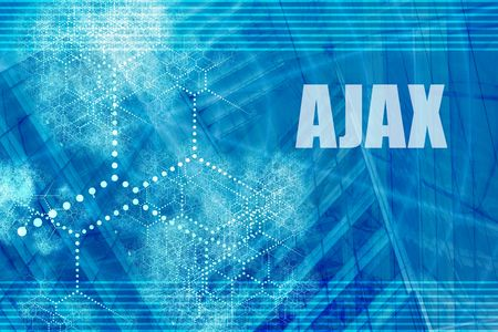 ajax: AJAX Blue Abstract Background with Internet Network