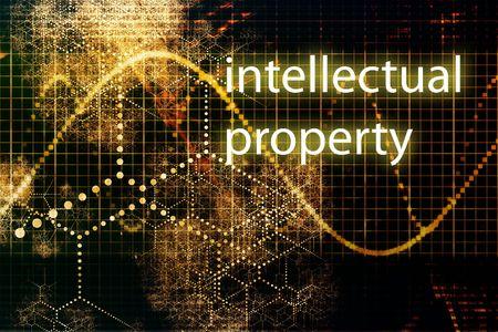 intellect: Propriet� intellettuale delle imprese concetto astratto sfondo sfondo Archivio Fotografico