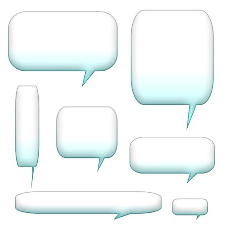 speech bubbles and balloons isolated on a white background photo