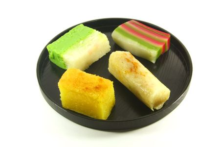 Exotic Colorful Traditional Cakes Commonly Found in South Asia Stock Photo
