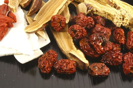 dried spice: Traditional Chinese Herbs Combination of Spices for Healing Soup