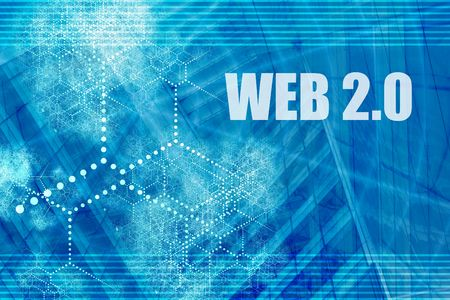 versions: Web 2.0 Abstract Background with Internet Network Stock Photo