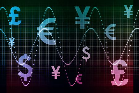 Blue Purple Financial Sector Global Currencies Abstract Background Wallpaper photo