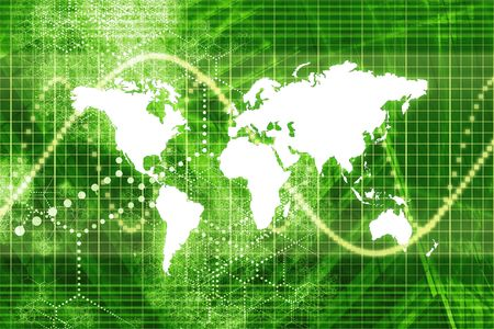 Green Stock Market World Economy Abstract Background photo