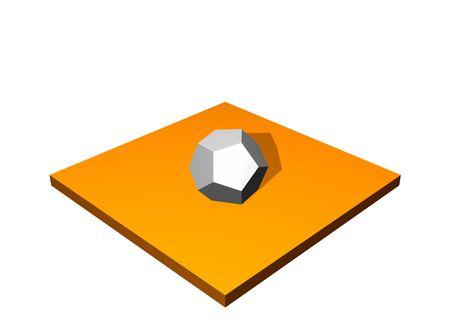 Diagramme Connecter 3d Collection Série à Orange Banque d'images - 3557289
