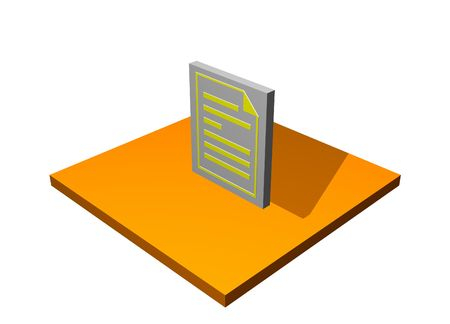 Purchase Order 3d Collection Series in Orange photo