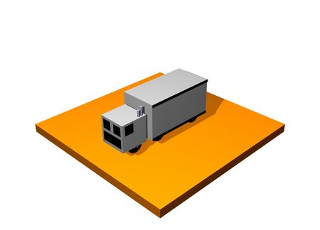 Land Transport 3d Collection Series in Orange photo