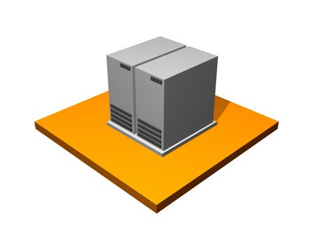 Server Database Storage 3d Collection Series in Orange photo