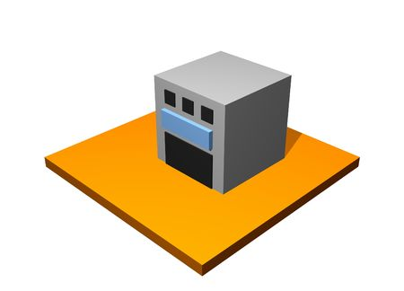 Factory Building 3d Collection Series in Orange Stock Photo - 3557315