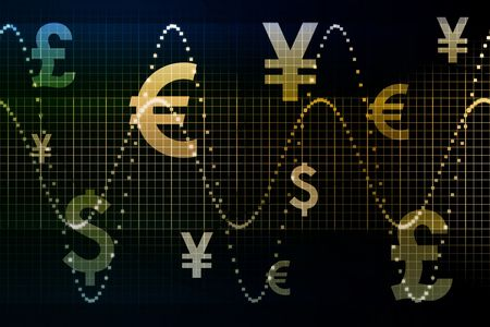 Blue Gold World Currencies Business Abstract Background Wallpaper Stock Photo - 3582381