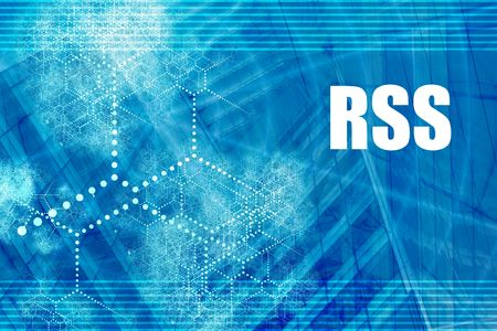 syndication: RSS Blue Abstract Background with Internet Network