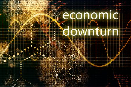 slowdown: Economic Downturn Abstract Business Concept Wallpaper Background