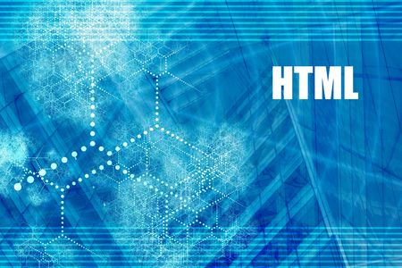 HTML Coding Language Abstract Background with Internet Network Stock Photo - 3593949