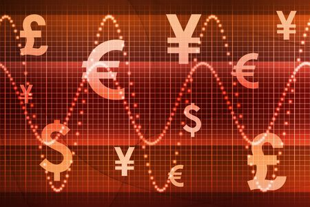 Orange World Currencies Business Abstract  Wallpaper Stock Photo - 3617629